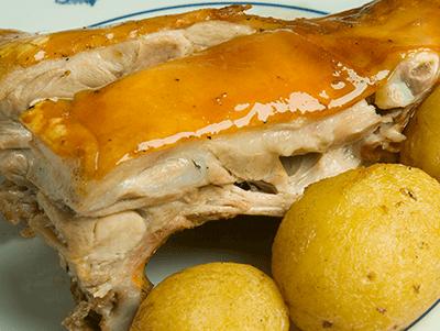 Restaurante Botín. Cochinillo Asado, plato recomendado