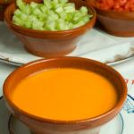 Plato de Gazpacho en el restaurante Botín