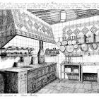 Grabado del restaurante Botín de Antonio González