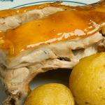 roast pig at Botín Restaurant in Madrid