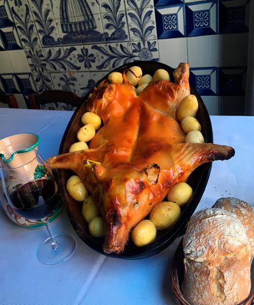 Cochinillo en el Restaurante Botín